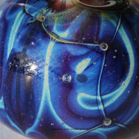 Murano glass silver bead blue