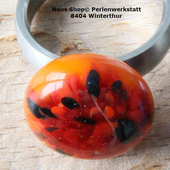 Glasring orange rot Neus Shop Winterthur Kanton Zürich Toppreise Schmuck